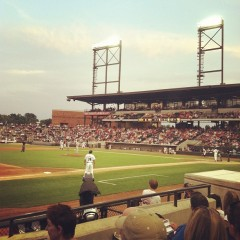 Dash fans set a single-game attendance record for BB&T Ballpark on July 4, 2012.