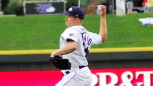 2012 alum Erik Johnson has been excellent at Double-A and Triple-A this year, making him a candidate for a promotion to Chicago soon (Dan Barber/W-S Dash).
