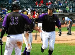 Kevan Smith hit two huge home runs in the 2012 CL playoffs (Dan Barber/W-S Dash).