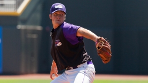 Jake Petricka dealt two scoreless innings in big league spring training (Steve Orcutt/W-S Dash).