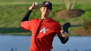 Righty Jake Cose is set to join the Dash's rotation upon his arrival from Kannapolis (Ray Marsden/Intimidators).