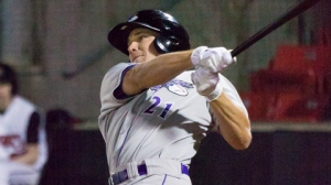 Mark Haddow currently leads the Carolina League in games played (Steve Orcutt/W-S Dash).