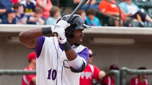 Courtney Hawkins has retained the top spot in MLB's rankings in his first full season in pro ball (Steve Orcutt/W-S Dash).