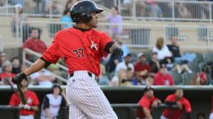 Micah Johnson, who leads MiLB with 61 stolen bases, has been promoted to Winston-Salem (photo via Kannapolis Intimidators).