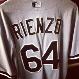 Andre Rienzo arrived in Cleveland to this sight ahead of his first appearance in the majors (Chicago White Sox).