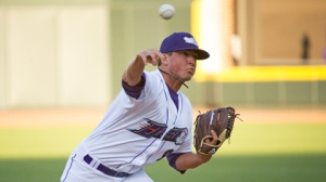 Bryan Blough leads all of High-A baseball in innings pitched (Jody Stewart/W-S Dash).