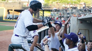 Jeremy Farrell went yard for the first time since June 6 in Thursday's win (Laura Marshall/W-S Dash).