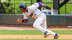 Micah Johnson has swiped more bags and scored more runs than any other minor leaguer in 2013 (Steve Orcutt/W-S Dash).
