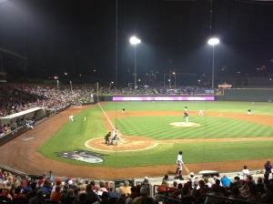BB&T Ballpark was packed to the brim for the Fourth of July game in 2013.