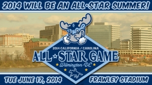 The Blue Rocks will host this year's All-Star Game (photo courtesy of the Wilmington Blue Rocks).