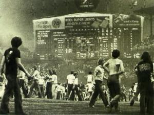 "Hopefully ""Disco Demolition Night"" does not involve a reenactment."