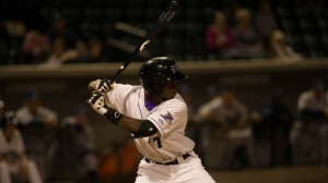 Tim Anderson registered the Dash's first walk-off homer of 2014 (Jody Stewart/W-S Dash).