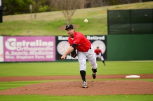 After two outings in Kannapolis, southpaw Sean Bierman has made the leap to the Dash (photo via the Kannapolis Intimidators).