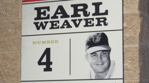 Earl Weaver was the star of the Carolina League's best team of all time--the 1950 Winston-Salem Cardinals. He is remembered at BB&T Ballpark with this plaque.