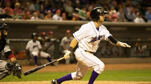 Joey DeMichele became the first player in Dash history to score five runs in one game (Jody Stewart/W-S Dash).