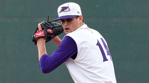 Myles Jaye tossed a four-hit shutout against Potomac last week. (Steve Orcutt/W-S Dash).