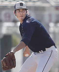 Tyler Danish did not give up an earned run in his senior season at Durant High School (Photo via baseballnews.com).