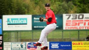 Tyler Danish has not given up a run in his last 22 innings (Ray Marsden/Kannapolis Intimidators).