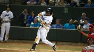 Jacob May is riding an 11-game hitting streak. (Jody Stewart/W-S Dash)