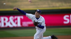 Tony Bucciferro is tied for the Carolina League lead in innings pitched. (Jody Stewart/W-S Dash)