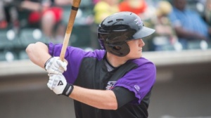 Jason Coats ranks fourth in the Carolina League with 53 RBI. (Jody Stewart/W-S Dash)