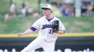 Tyler Danish tossed six scoreless innings against Myrtle Beach on July 7. (Jody Stewart/W-S Dash)