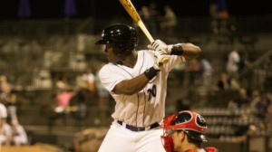 Keon Barnum had a two-run double in Tuesday's win over Salem. (Jody Stewart/W-S Dash)