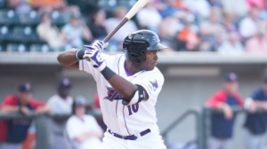 Courtney Hawkins has taken over the Carolina League lead in RBIs. (Jody Stewart/W-S Dash)
