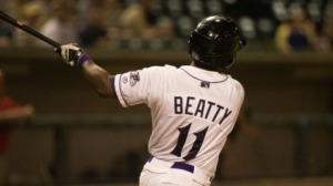 C.J. Beatty hit his first Minor League homer since 2010 on Sunday. (Jody Stewart/W-S Dash)