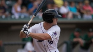 Adam Engel recorded his first three-hit game with the Dash on Thursday. (Jody Stewart/W-S Dash)