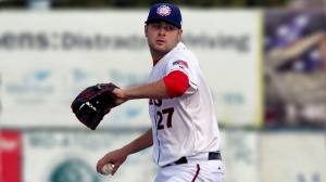 Lucas Giolito can hit 99 MPH on his fastball and is the top pitching prospect in baseball. (Carl Kline/MiLB.com)