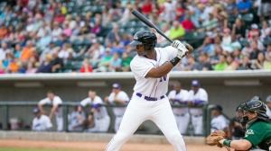 Keon Barnum drove in his league-leading eighth RBI last night (Jody Stewart/W-S Dash).