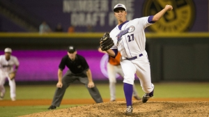 Sean Hagan matched a career-high with 3.0 innings pitched Monday for the save in the Dash's 4-3 win (Jody Stewart/W-S Dash).