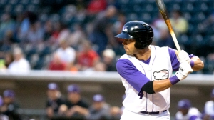 Keenyn Walker's four stolen bases are tied with teammate Adam Engel for the lead in the Carolina League (Jody Stewart/W-S Dash).