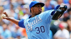 Yordano Ventura is expected to lead the Royals' rotation after the departure of James Shields in free agency. (Ed Zurga/Getty Images)