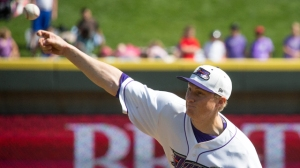 James Dykstra ranks among the league leaders in many pitching categories (Jody Stewart/W-S Dash).