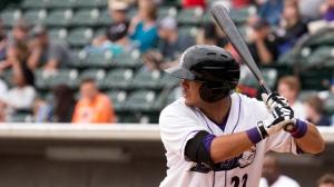 Omar Narvaez is riding a six-game hitting streak (Jody Stewart/W-S Dash).