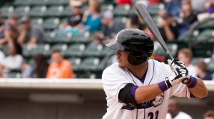 Omar Narvaez had two hits and two runs scored Thursday against Lynchburg. (Jody Stewart/W-S Dash)