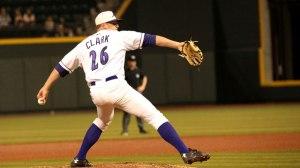 Brian Clark worked a scoreless seventh inning Saturday. (Jody Stewart/W-S Dash)