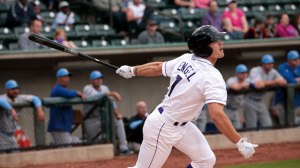 Adam Engel has given the Dash a strong on-base threat at the top of the order (Jody Stewart/W-S Dash).
