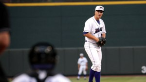Jace Fry takes the mound for the Dash Monday at Wilmington. (Jody Stewart/W-S Dash)