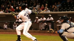 Kenyan Walker blooped a two-run single for the Dash Wednesday. (Jody Stewart/W-S Dash)