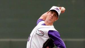 Matt Heidenreich became the first Carolina League hurler to four wins. (Steve Orcutt/W-S Dash)