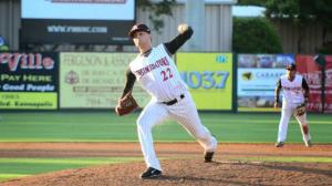 Jordan Guerrero's 0.69 ERA is the sixth-best in MiLB. (Ray Marsden/Kannapolis Intimidators)