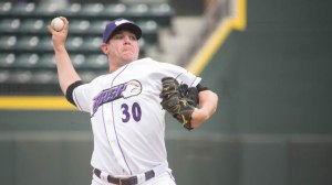 Brad Goldberg tossed four innings Sunday out of the bullpen. (Jody Stewart/W-S Dash)
