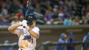 Adam Engel drove in four runs Monday in Winston-Salem's 7-4 triumph. (Jody Stewart/W-S Dash)