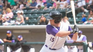 Nolan Earley's RBI single brought home the go-ahead run Monday in the eighth inning. (Jody Stewart/W-S Dash)