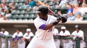 Keon Barnum delivered an RBI single in Monday's 3-1 loss to Frederick. (Jody Stewart/W-S Dash)