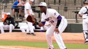 Keon Barnum drove in two runs Monday against Lynchburg. (Jody Stewart/W-S Dash)