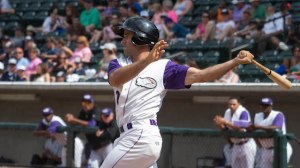 Ethan Wilson knocked in his first run Wednesday since June 7 to begin a five-run ninth inning. (Jody Stewart/W-S Dash)